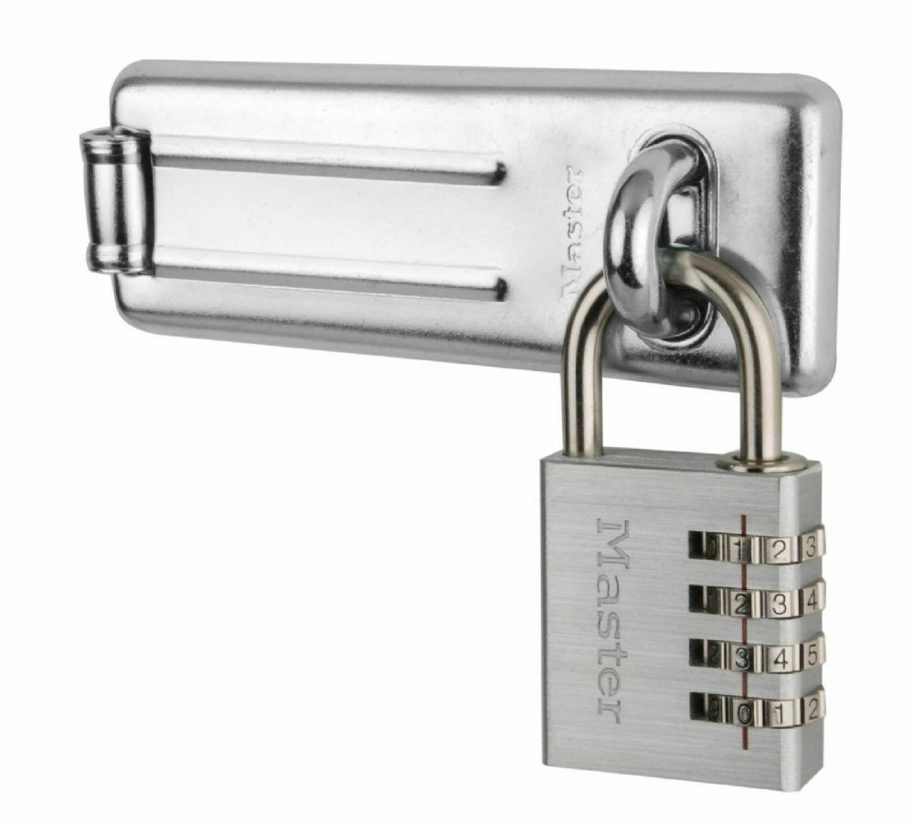Master Lock 7640704EURD 115mm Hasp and 40mm 4 Digit Resettable Combination